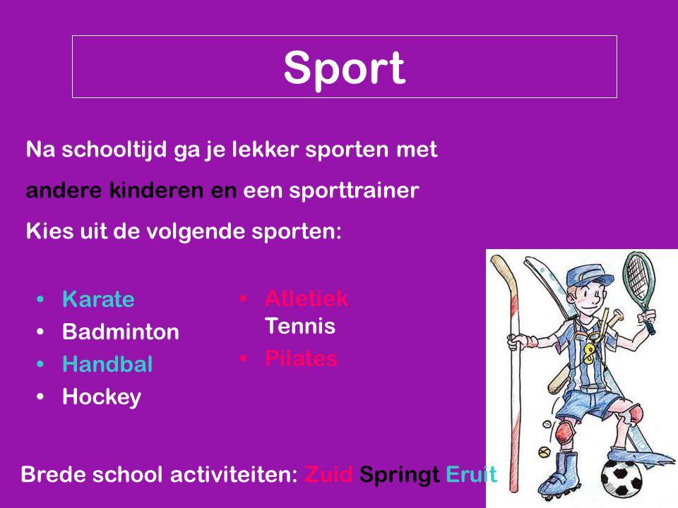 Sport Na schooltijd ga je lekker sporten met