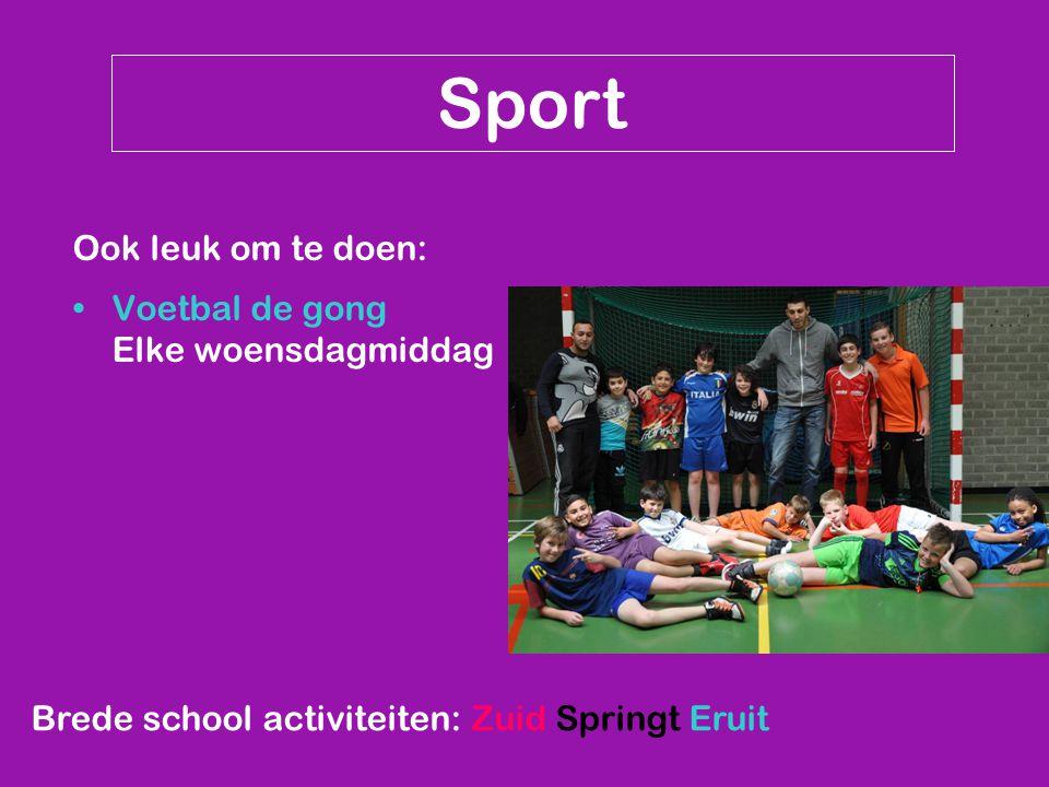 Sport Ook leuk om te doen: Voetbal de gong Elke woensdagmiddag