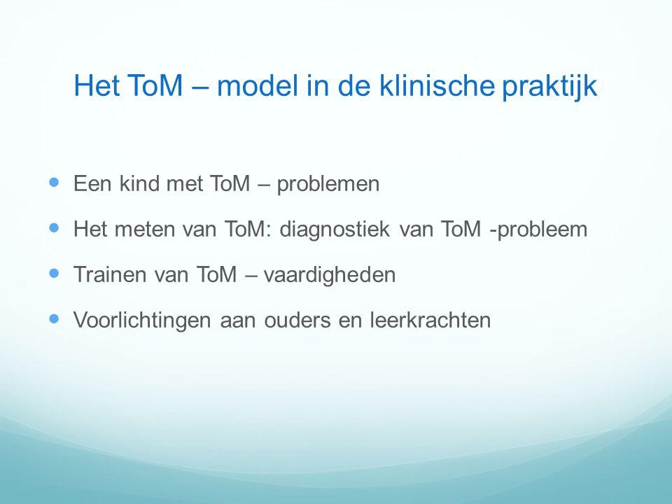 Het ToM – model in de klinische praktijk