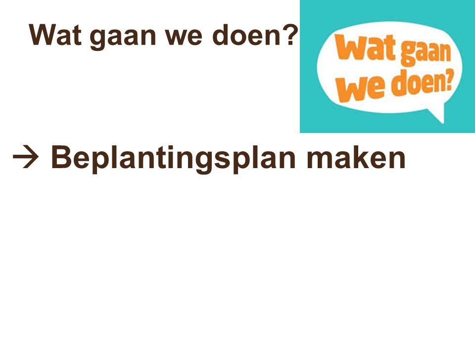  Beplantingsplan maken