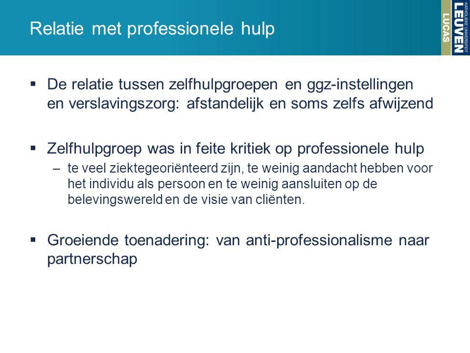 Relatie met professionele hulp