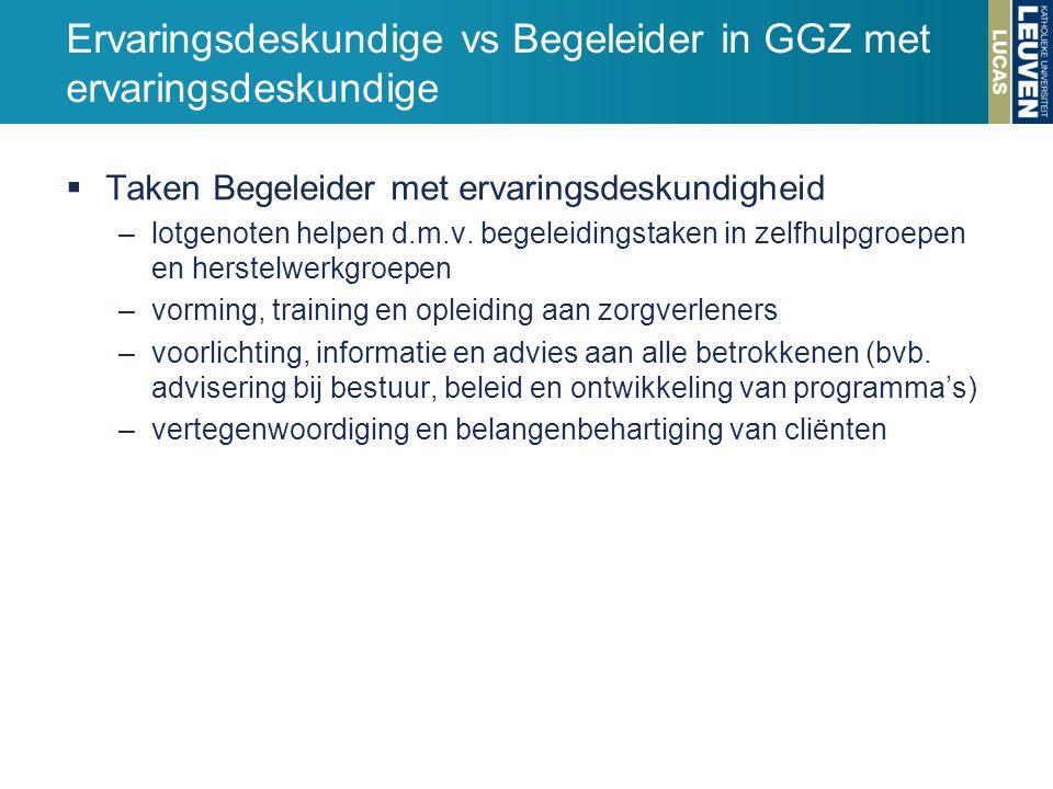 Ervaringsdeskundige vs Begeleider in GGZ met ervaringsdeskundige