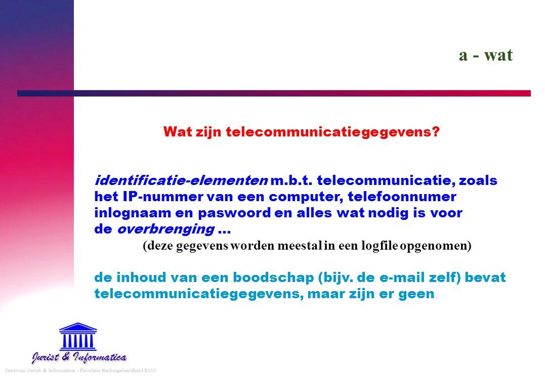 Wat zijn telecommunicatiegegevens