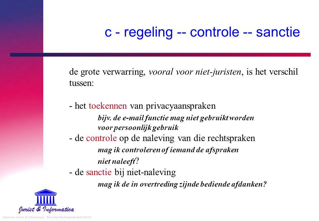 c - regeling -- controle -- sanctie