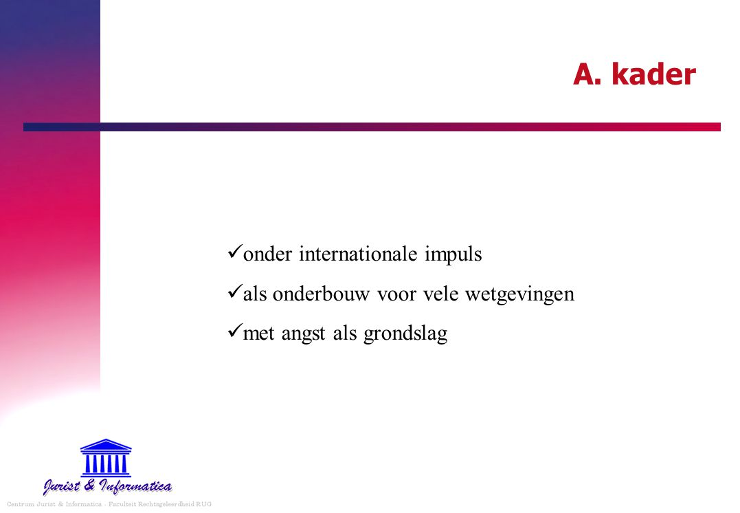 A. kader onder internationale impuls