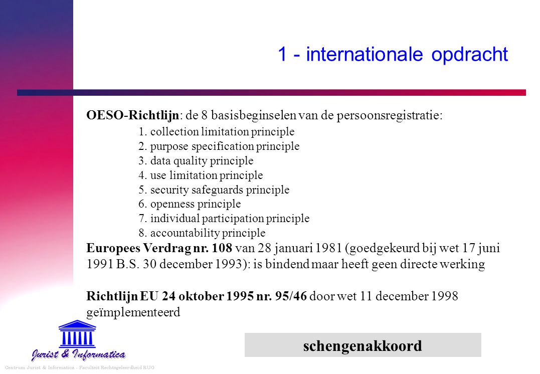 1 - internationale opdracht