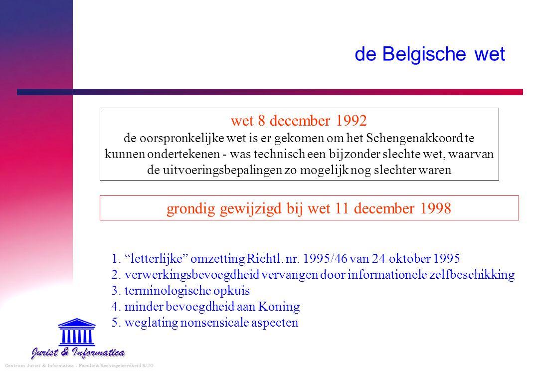 grondig gewijzigd bij wet 11 december 1998