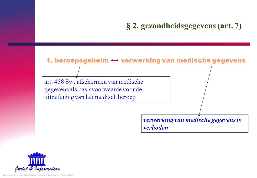 § 2. gezondheidsgegevens (art. 7)