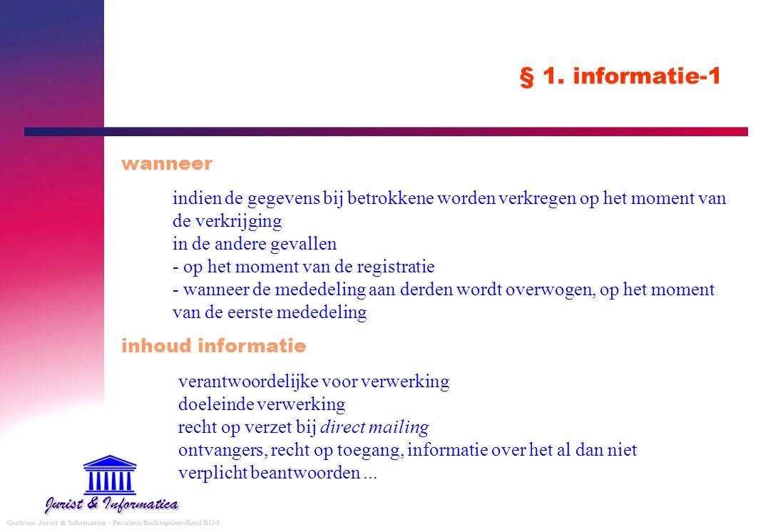 § 1. informatie-1 wanneer.