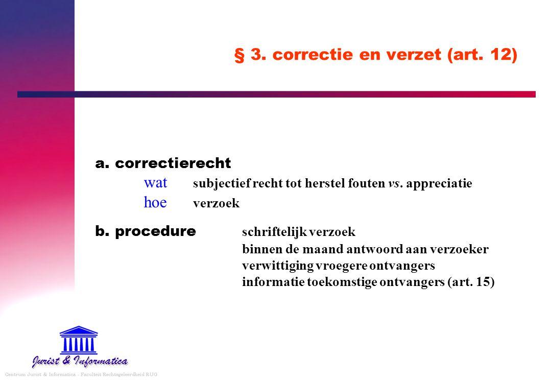 § 3. correctie en verzet (art. 12)