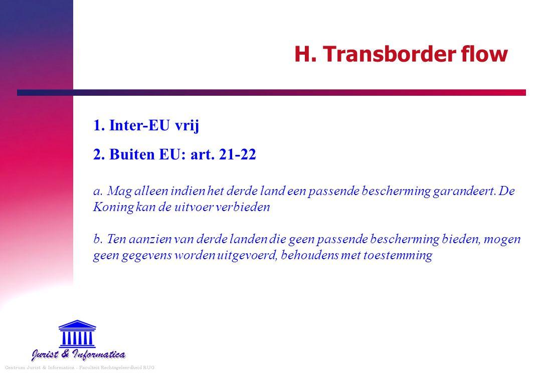 H. Transborder flow 1. Inter-EU vrij
