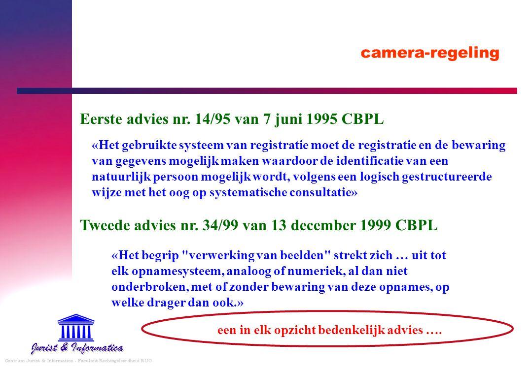 Eerste advies nr. 14/95 van 7 juni 1995 CBPL