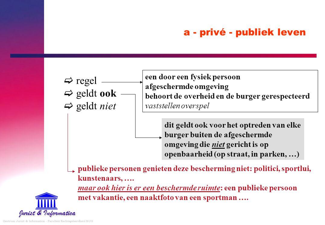 a - privé - publiek leven