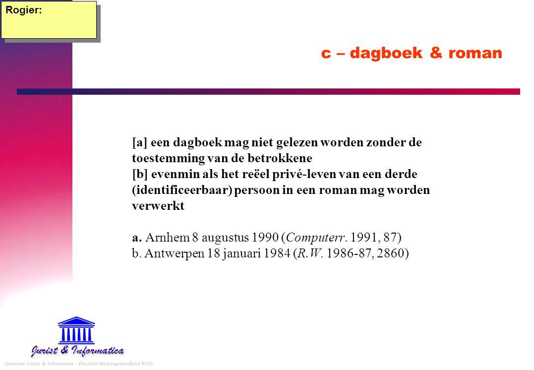 Rogier: c – dagboek & roman.