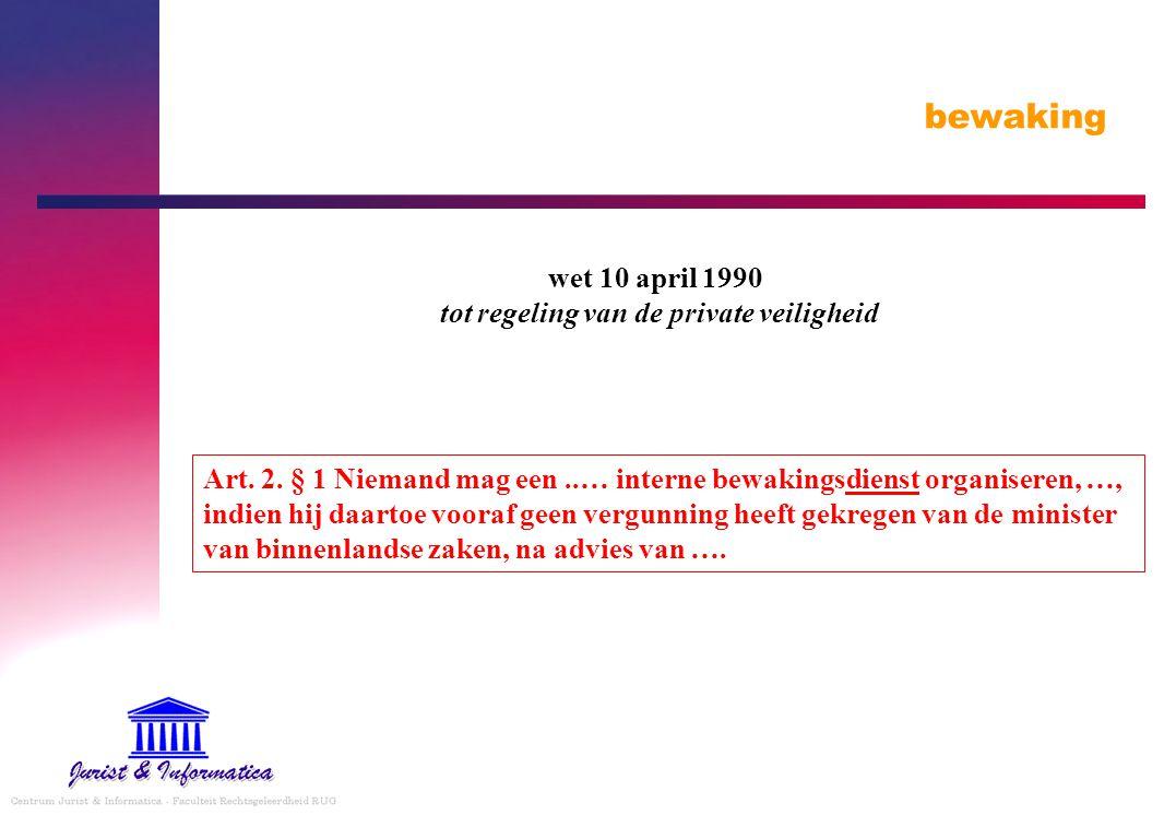 wet 10 april 1990 tot regeling van de private veiligheid