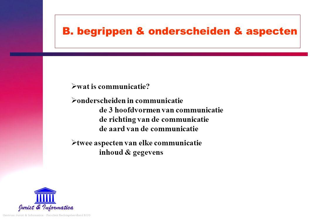 B. begrippen & onderscheiden & aspecten