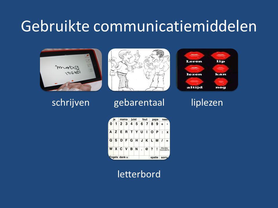 Gebruikte communicatiemiddelen