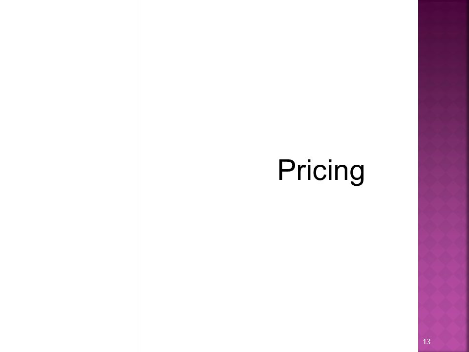 Pricing 13