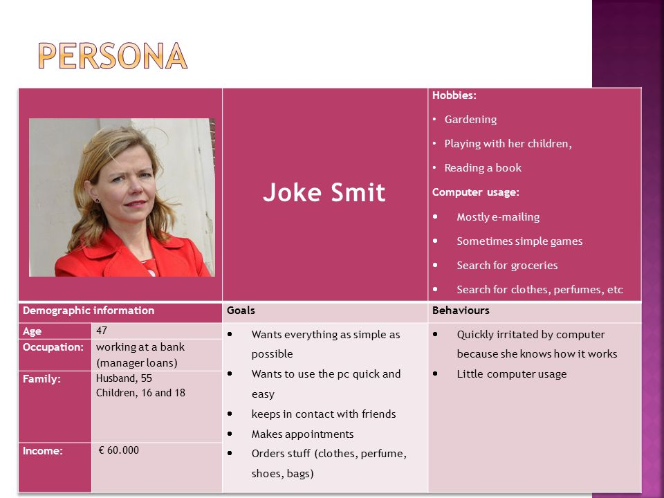Persona Joke Smit Hobbies: Gardening Playing with her children,