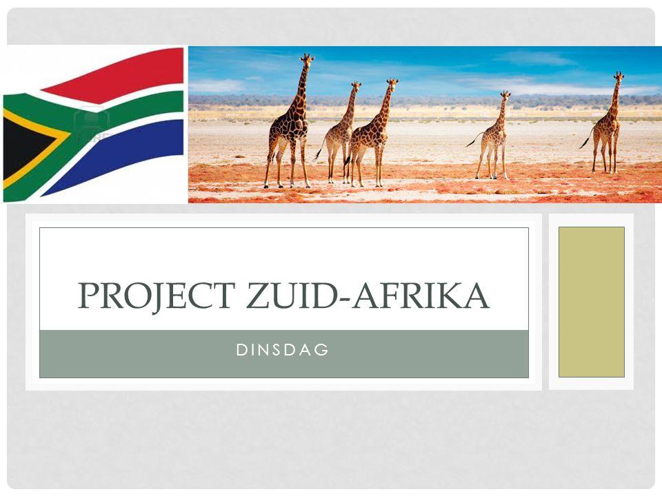 Project Zuid-Afrika dinsdag