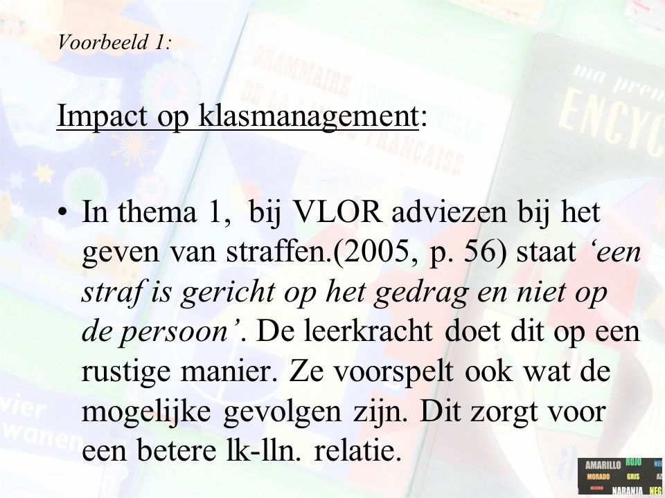 Impact op klasmanagement: