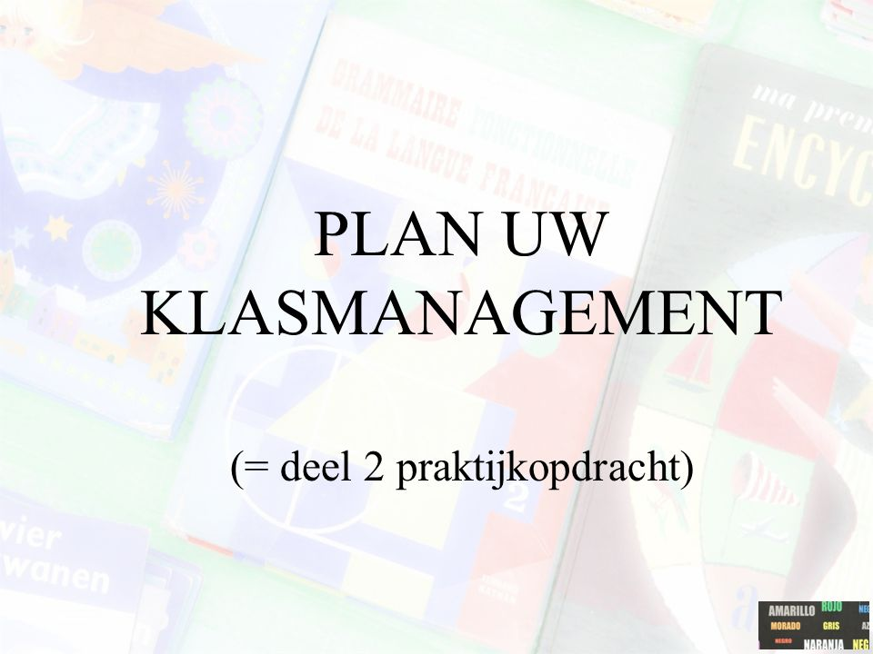 PLAN UW KLASMANAGEMENT
