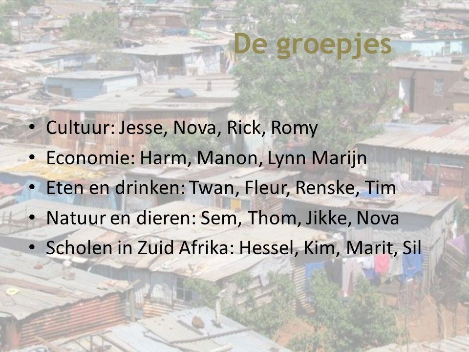 De groepjes Cultuur: Jesse, Nova, Rick, Romy