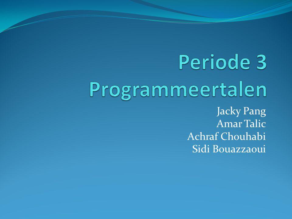 Periode 3 Programmeertalen