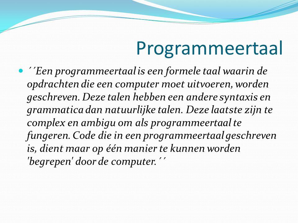 Programmeertaal
