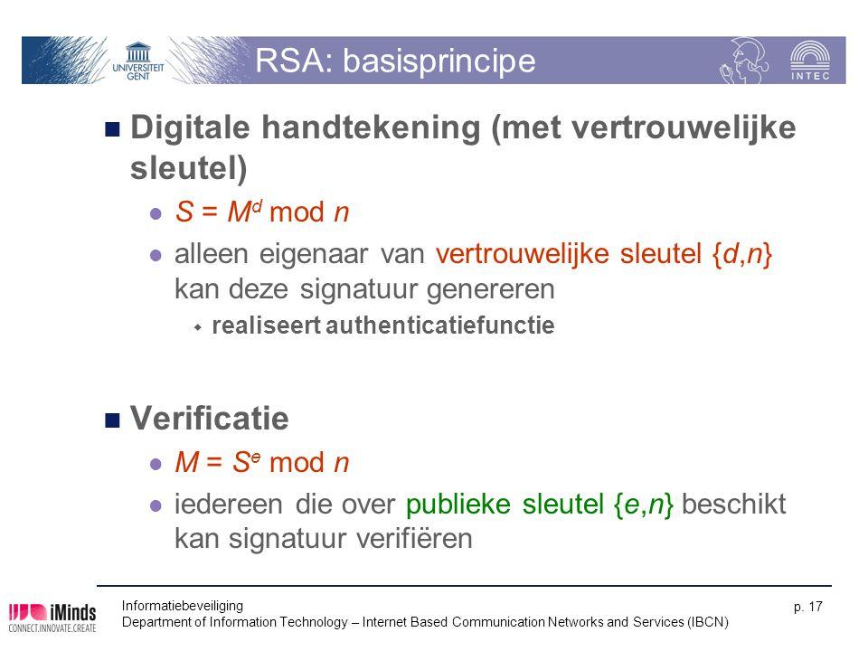 Digitale handtekening (met vertrouwelijke sleutel)