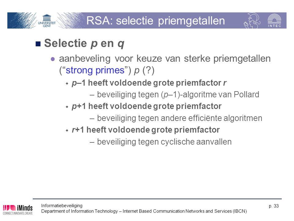 RSA: selectie priemgetallen