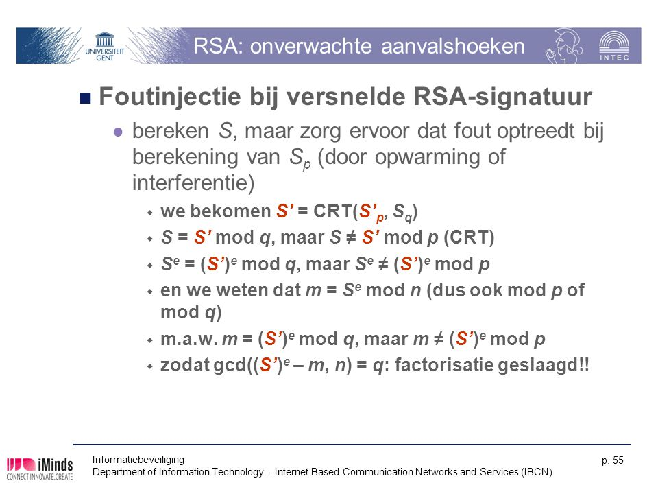 RSA: onverwachte aanvalshoeken