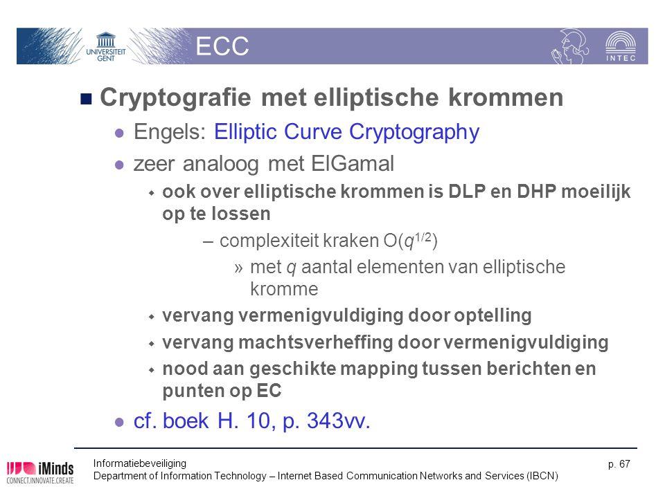 Cryptografie met elliptische krommen