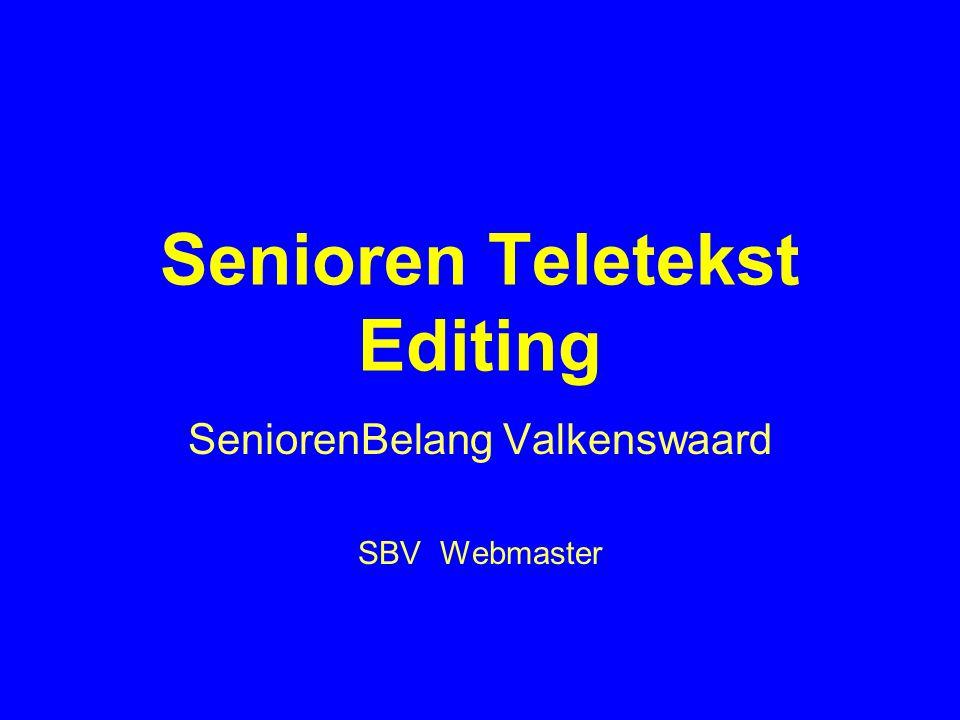 Senioren Teletekst Editing