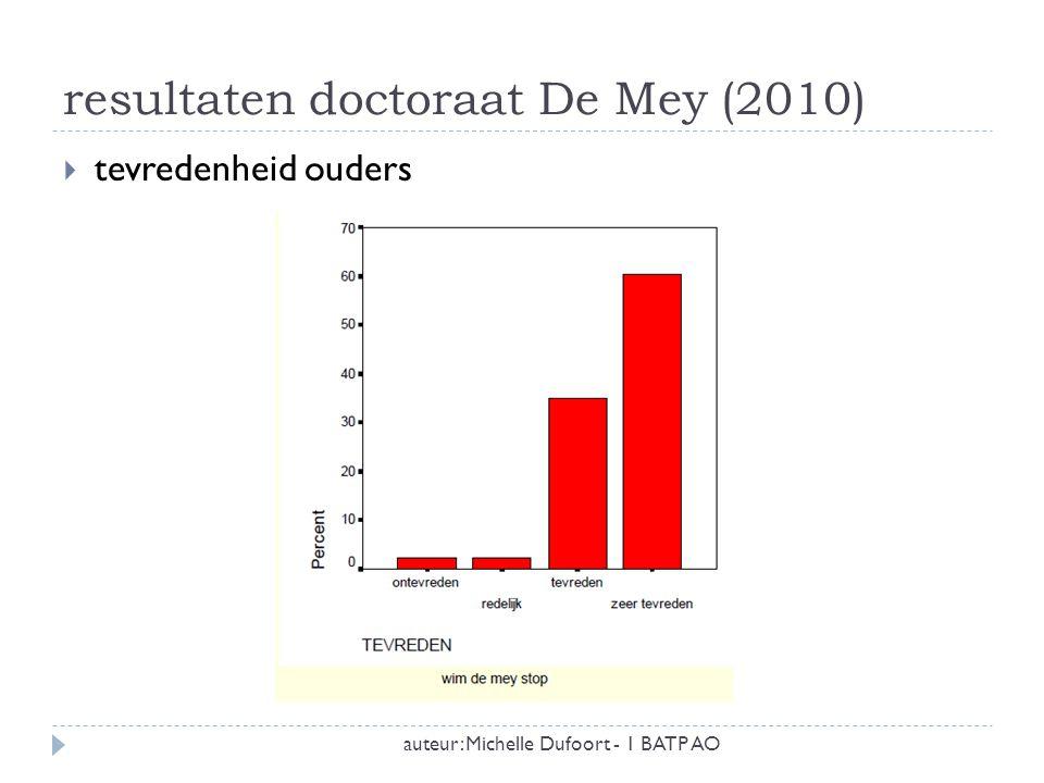 resultaten doctoraat De Mey (2010)