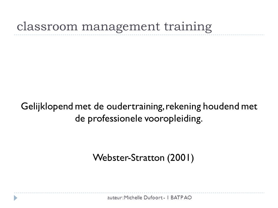 classroom management training