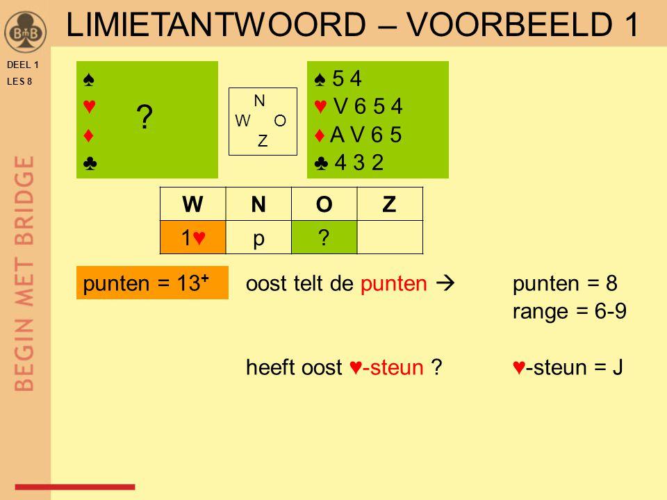 LIMIETANTWOORD – VOORBEELD 1