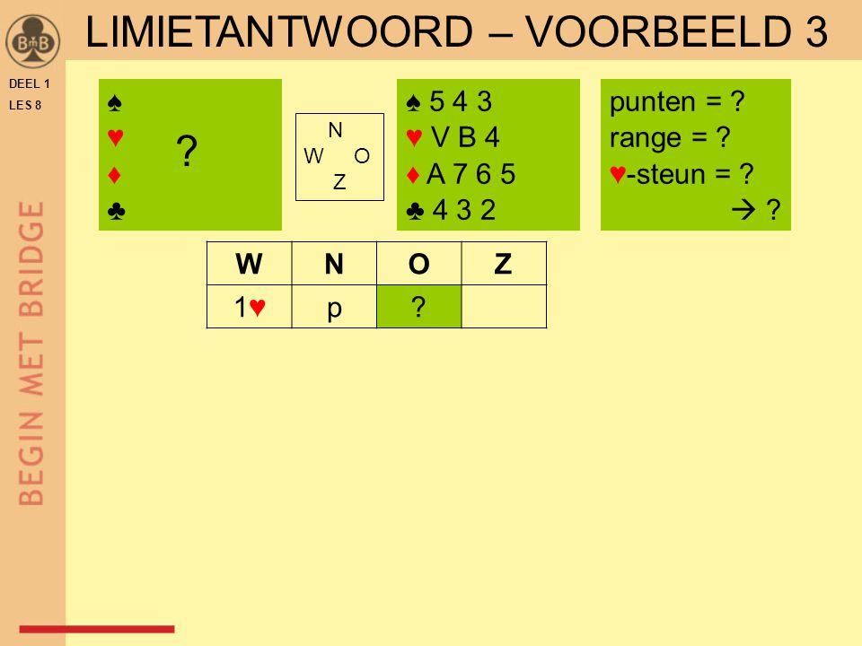LIMIETANTWOORD – VOORBEELD 3