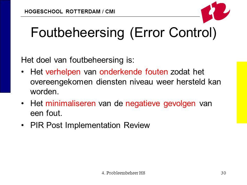 Foutbeheersing (Error Control)