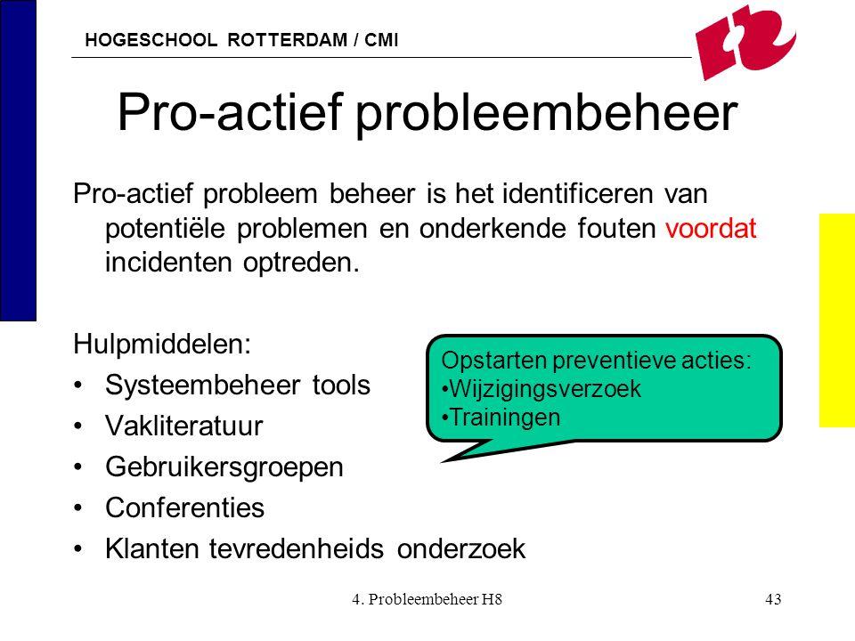 Pro-actief probleembeheer
