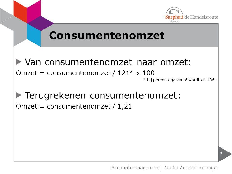 Consumentenomzet Van consumentenomzet naar omzet: