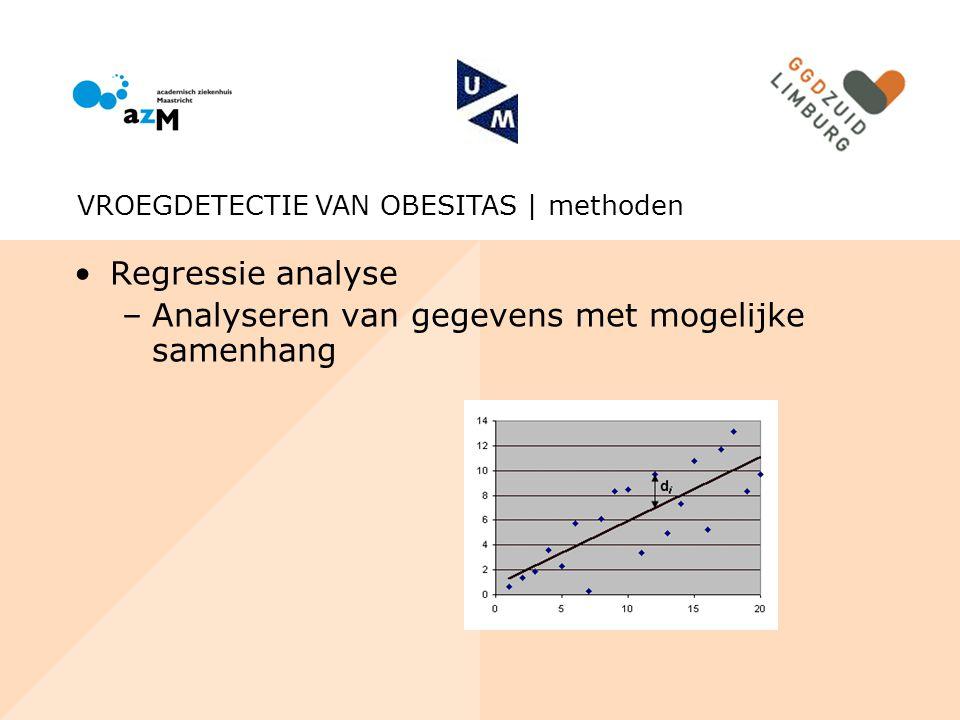 Analyseren van gegevens met mogelijke samenhang
