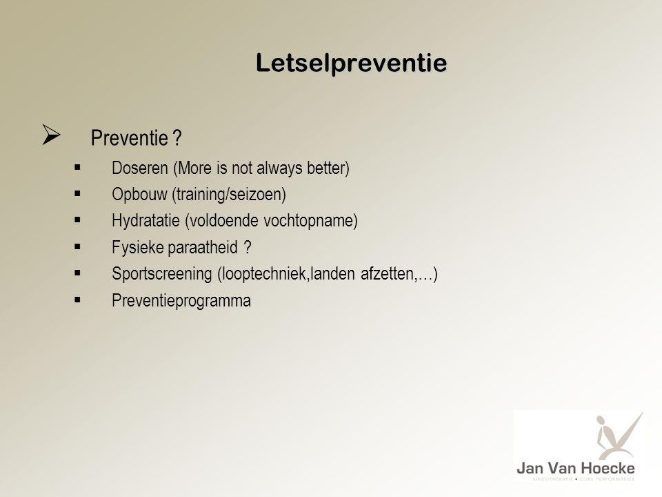 Preventie Letselpreventie Doseren (More is not always better)