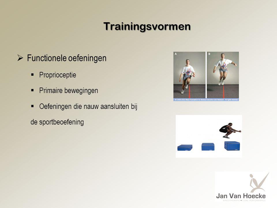 Trainingsvormen Functionele oefeningen Proprioceptie