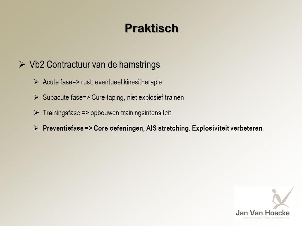 Praktisch Vb2 Contractuur van de hamstrings