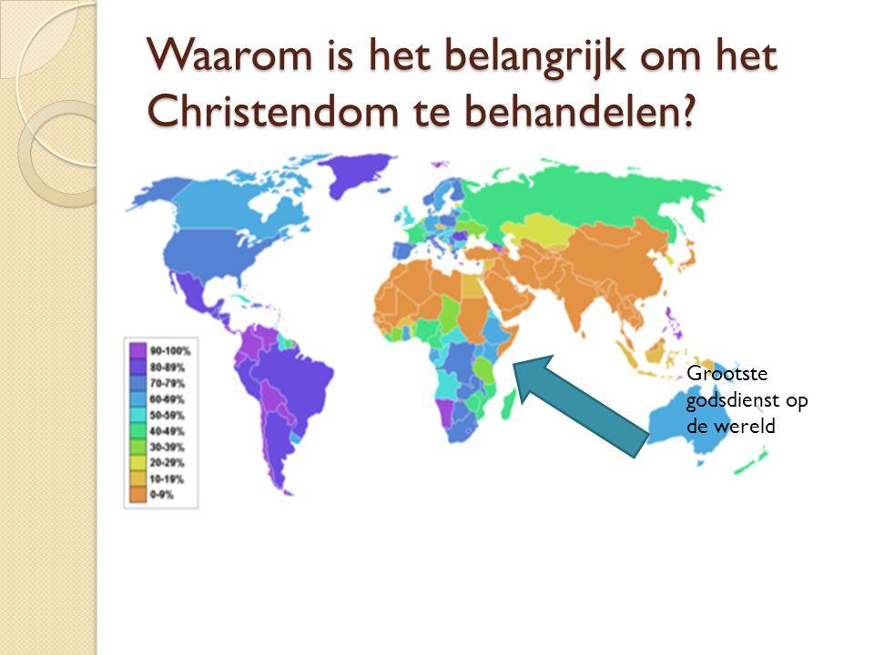 Waarom is het belangrijk om het Christendom te behandelen