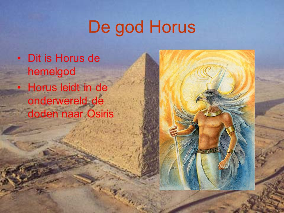 De god Horus Dit is Horus de hemelgod