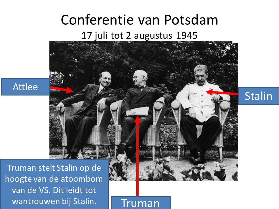 Conferentie van Potsdam 17 juli tot 2 augustus 1945