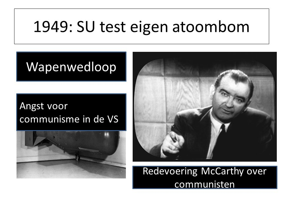 1949: SU test eigen atoombom