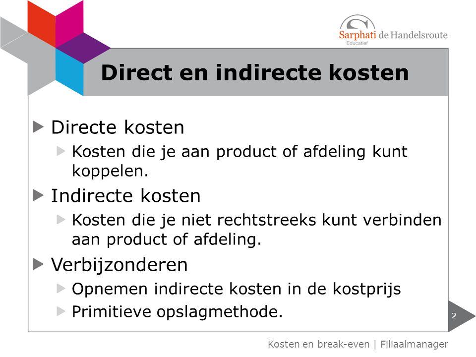 Direct en indirecte kosten